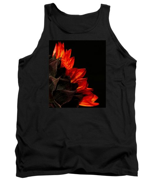 Tank Top featuring the photograph Flames by Judy Vincent