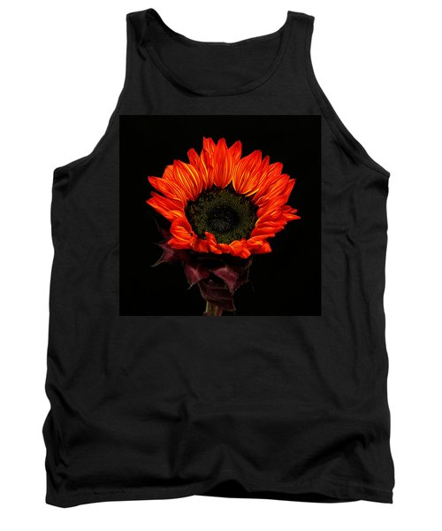 Tank Top featuring the photograph Flaming Flower by Judy Vincent