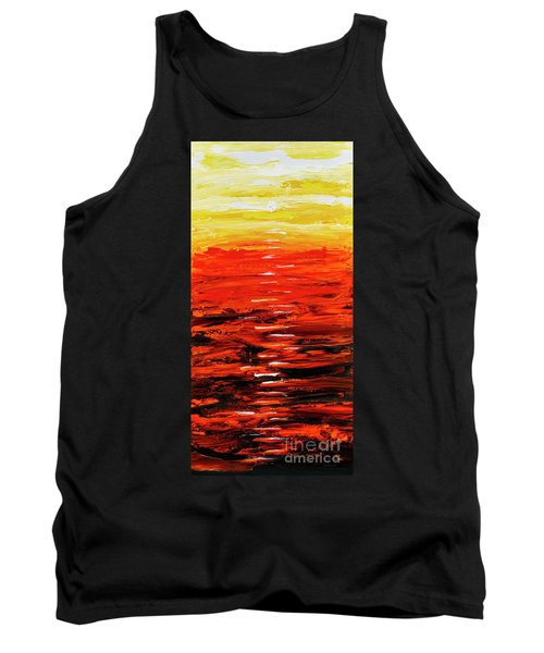 Flaming Sunset Abstract 205173 Tank Top