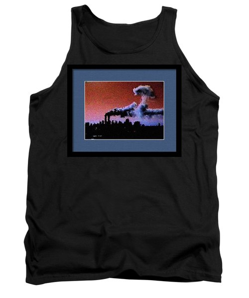 Flight 175 Mushroom Cloud Framed Example Tank Top by James Kosior
