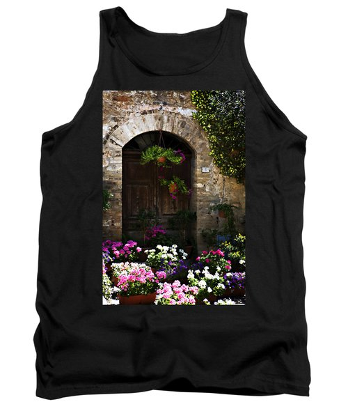 Floral Adorned Doorway Tank Top