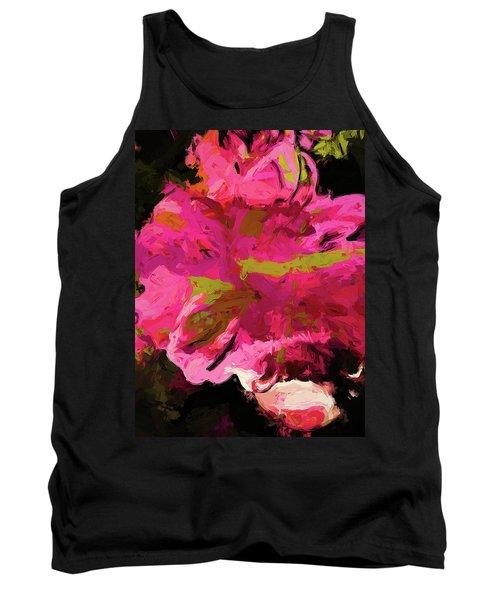 Flower Euphoria Magenta Pink Tank Top
