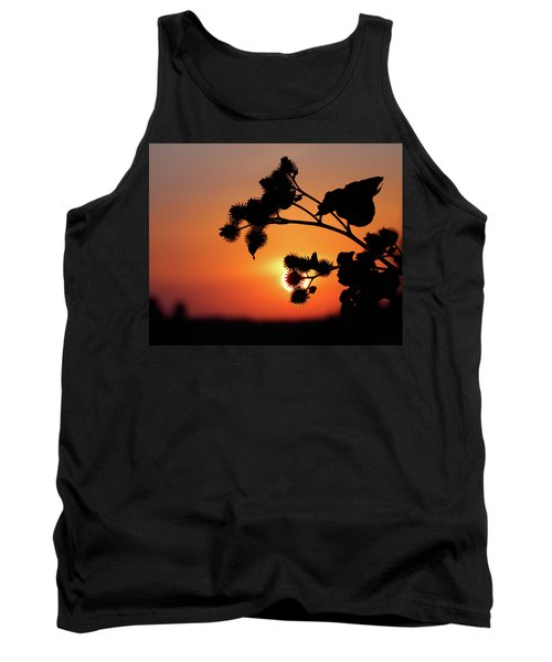 Flower Silhouette Tank Top