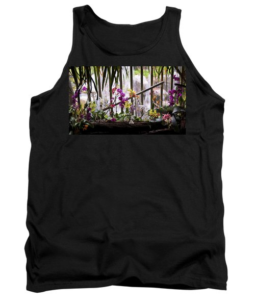 Flowers And Waterfall Tank Top