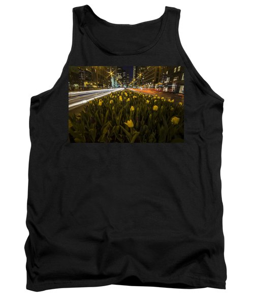 Flowers At Night On Chicago's Mag Mile Tank Top