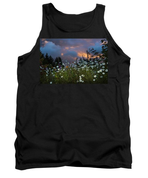 Flowers At Sunset Tank Top