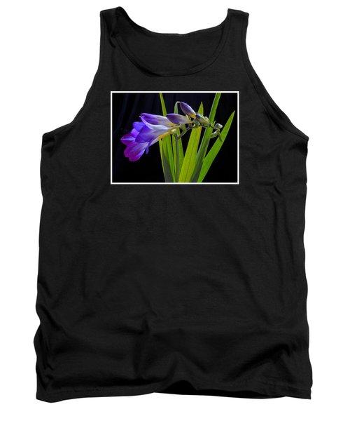 Flowers Backlite. Tank Top by Josephine Buschman