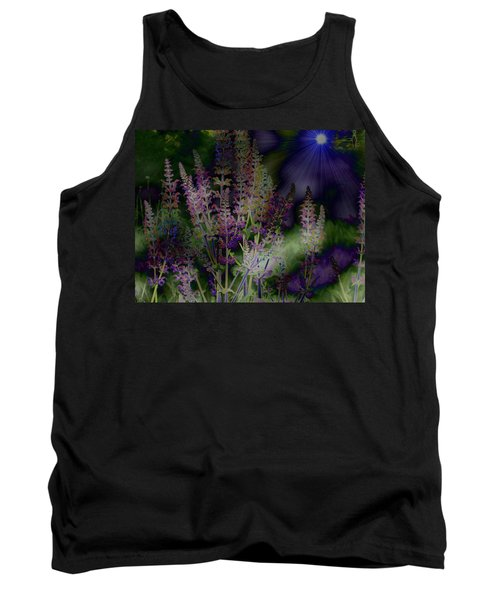 Flowers By Moonlight Tank Top by Barbara S Nickerson