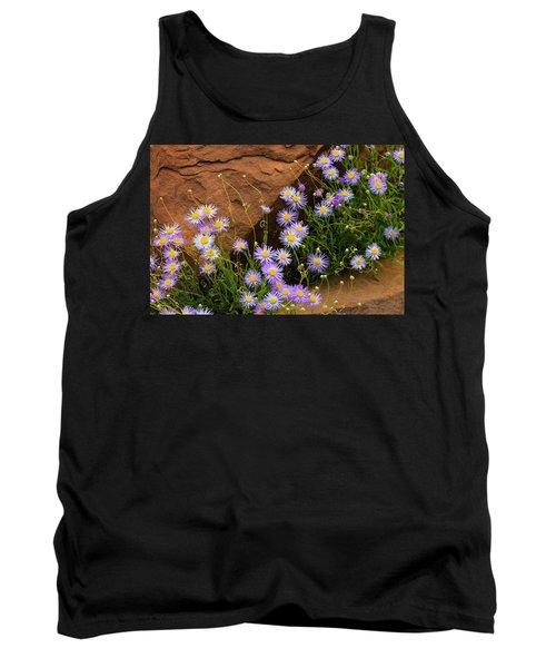 Flowers In The Rocks Tank Top by Darren White
