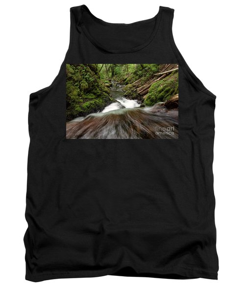 Flowing Downstream Waterfall Art By Kaylyn Franks Tank Top