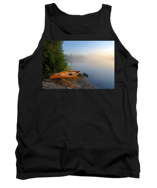 Foggy Morning On Spice Lake Tank Top