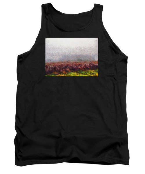 Tank Top featuring the photograph Foggy Morning by Spyder Webb