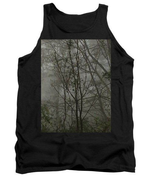 Foggy Woods Photo  Tank Top by Gina O'Brien
