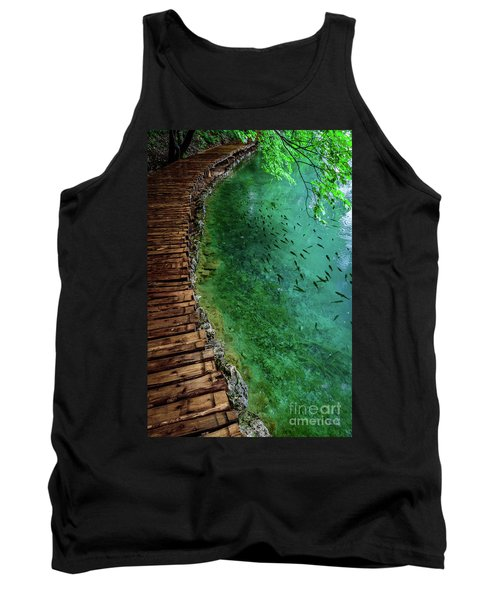 Footpaths And Fish - Plitvice Lakes National Park, Croatia Tank Top