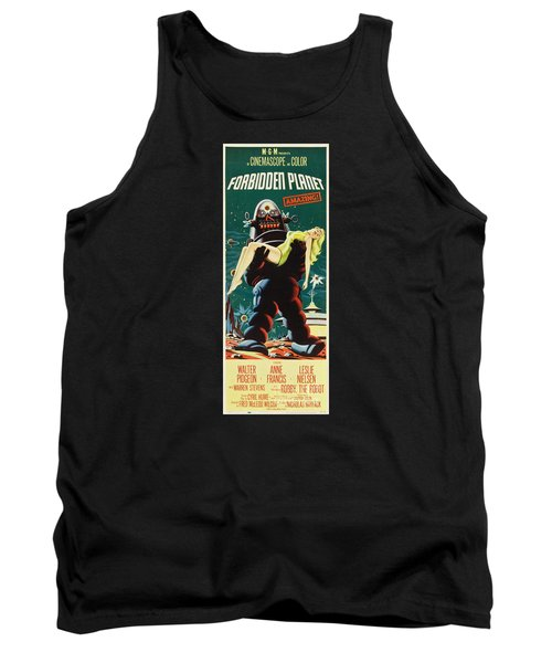 Forbidden Planet In Cinemascope Retro Classic Movie Poster Portraite Tank Top