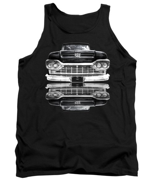 Ford F100 Truck Reflection On Black Tank Top