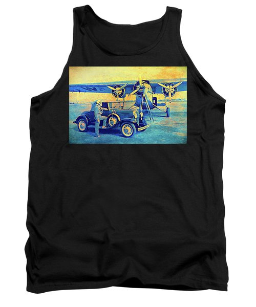 Ford Trimotor And 1931 Model A Roadster Tank Top
