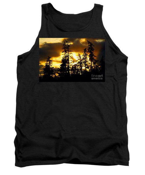 Tank Top featuring the photograph Forest Sunset  by Nick Gustafson