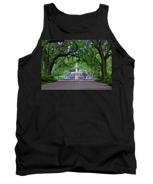 Tank Top featuring the photograph Forsyth Park by Jean Haynes