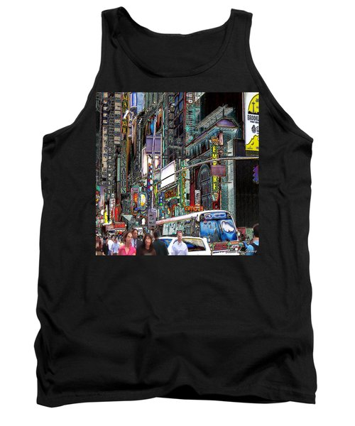 Forty Second And Eighth Ave N Y C Tank Top by Iowan Stone-Flowers