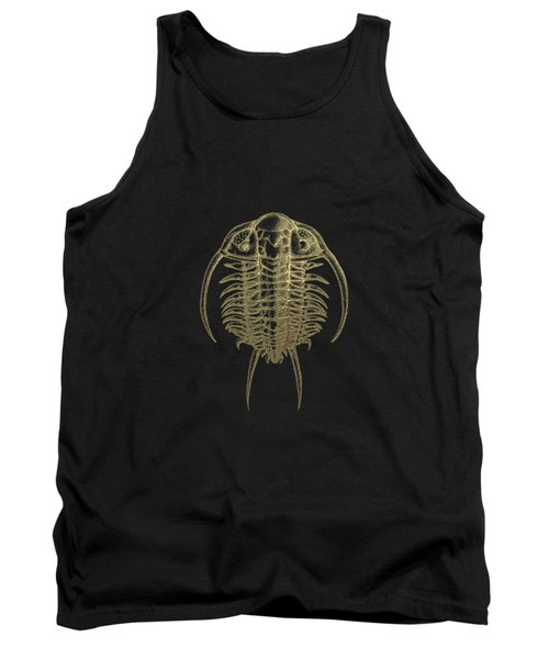 Fossil Record - Golden Trilobite On Black No.2 Tank Top