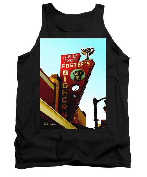 Foster's Bighorn Cafe Tank Top by Sadie Reneau