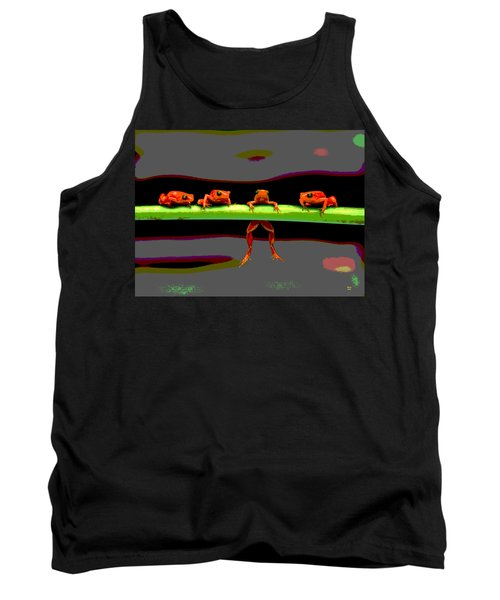 Four Frogs Tank Top by Charles Shoup