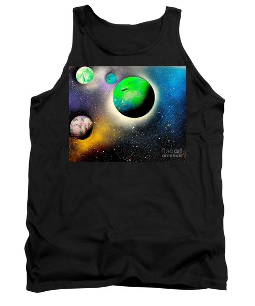 Four Planets 02 E Tank Top by Greg Moores