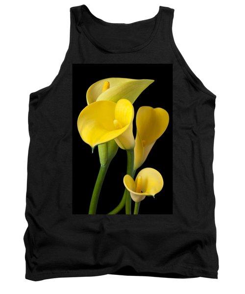 Four Yellow Calla Lilies Tank Top
