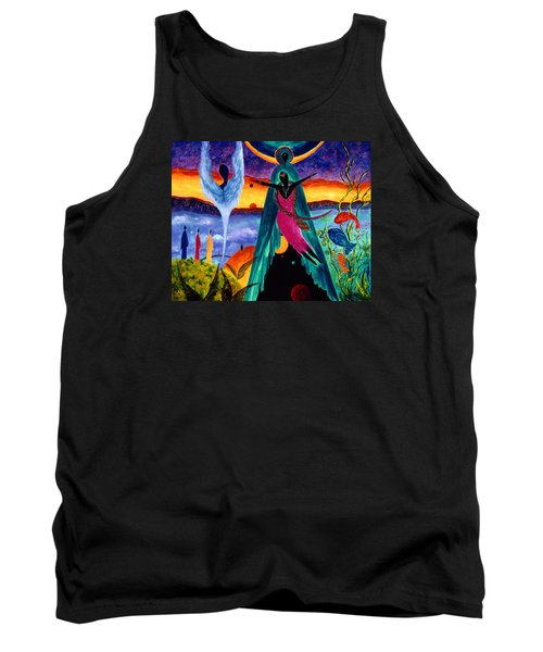 Tank Top featuring the painting Flight by Marina Petro