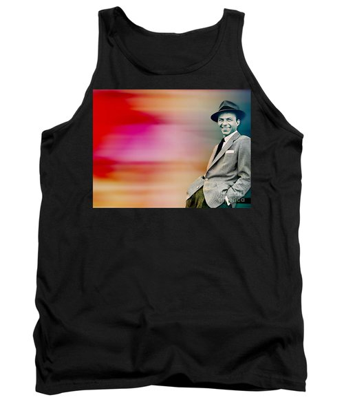 Tank Top featuring the digital art Frank Sinatra by Marvin Blaine