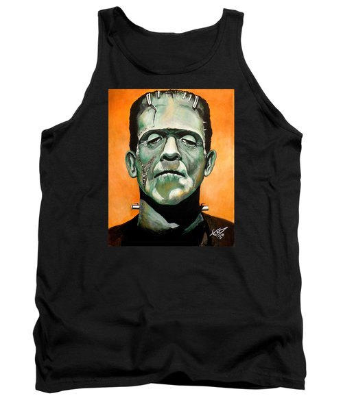 Frankenstein Tank Top by Tom Carlton