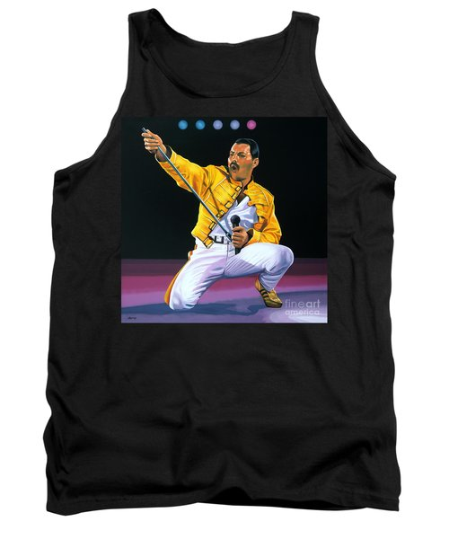 Freddie Mercury Live Tank Top by Paul Meijering