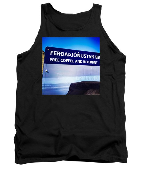 Free Coffee And Internet - Sign In Iceland Tank Top