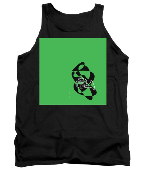 French Horn In Green Tank Top
