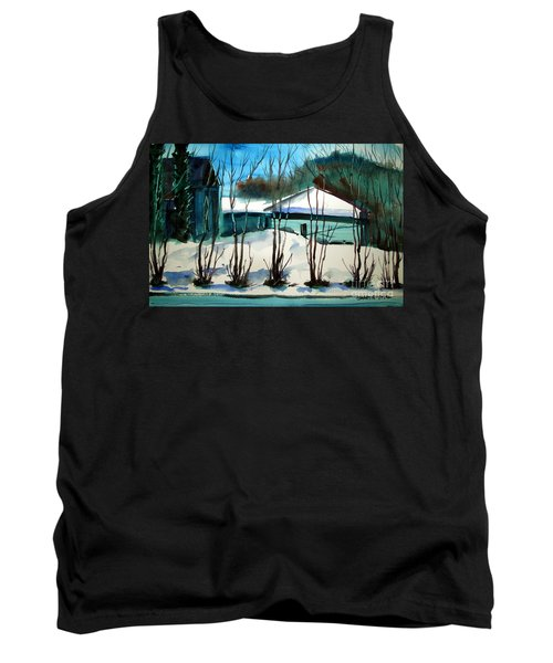 Fresh Snow Double Matted Tank Top by Charlie Spear