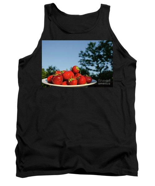 Tank Top featuring the photograph Fresh Strawberriesl by Kennerth and Birgitta Kullman