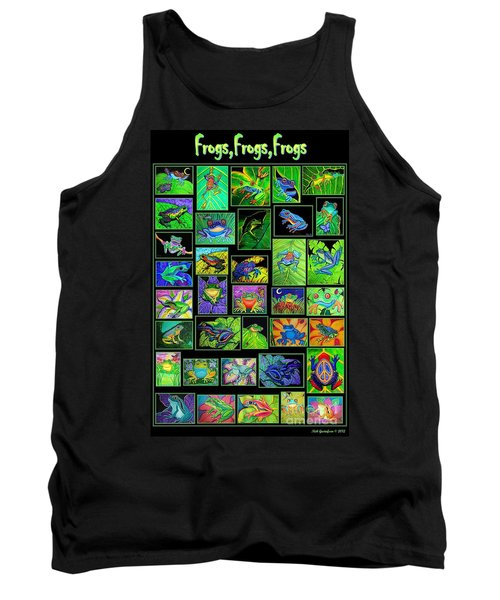 Frogs Poster Tank Top by Nick Gustafson