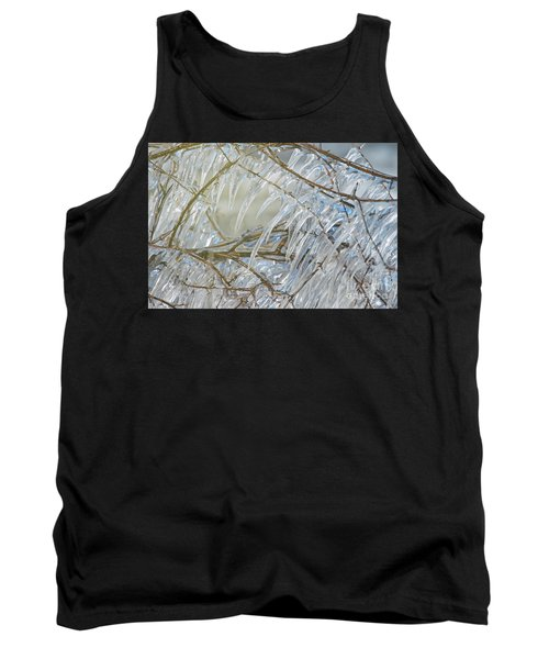 Tank Top featuring the photograph Frostbite.. by Nina Stavlund
