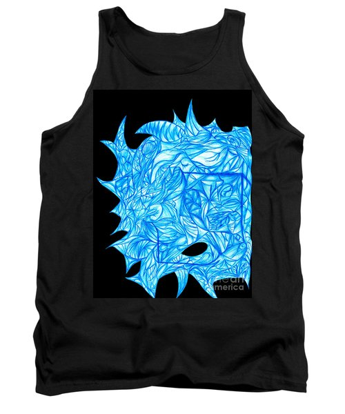 Tank Top featuring the drawing Frozen Desire by Jamie Lynn