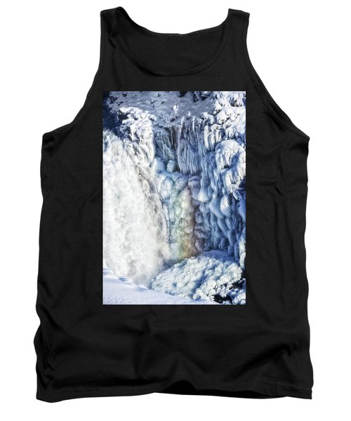 Frozen Waterfall Gullfoss Iceland Tank Top by Matthias Hauser