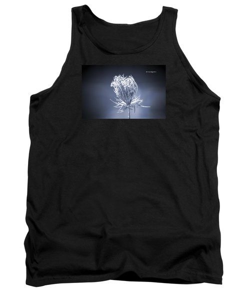 Tank Top featuring the photograph Frozen Wildflower by Stwayne Keubrick