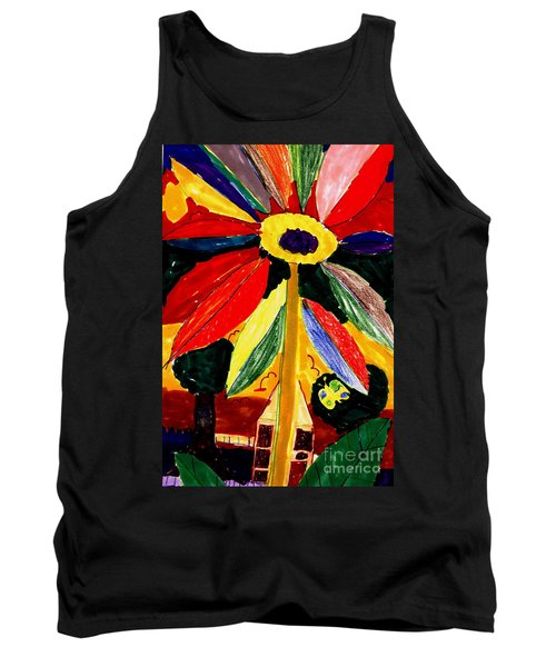 Tank Top featuring the painting Full Bloom - My Home 2 by Angela L Walker