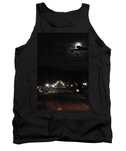 Full Moon Over Red River Tank Top