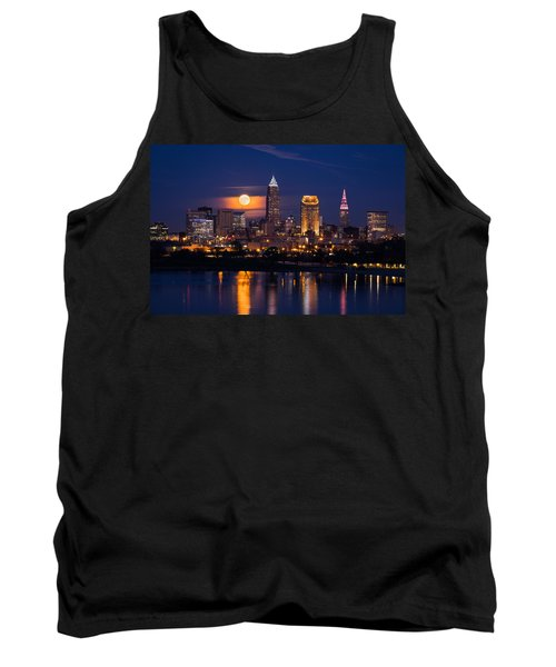 Full Moonrise Over Cleveland Tank Top