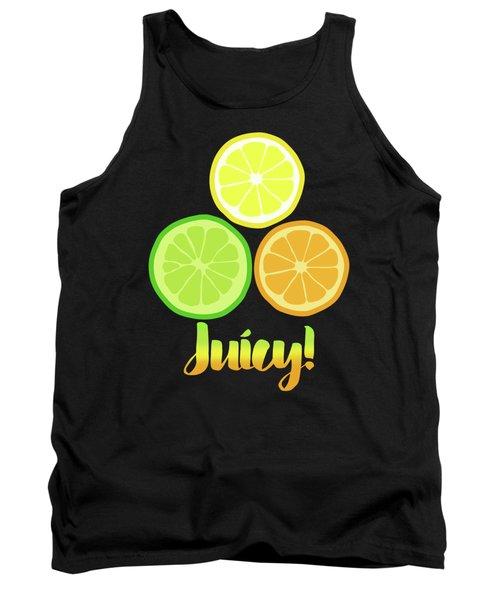 Fun Juicy Orange Lime Lemon Citrus Art Tank Top by Tina Lavoie