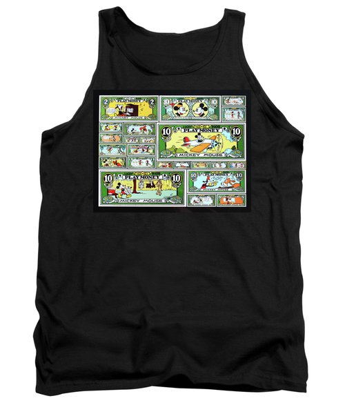 Funny Money Collage Tank Top by Joseph Hawkins