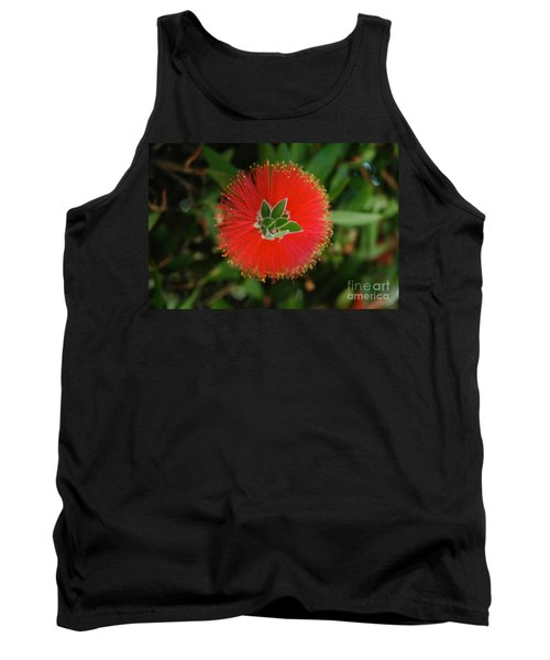 Fuzzy Flower Tank Top