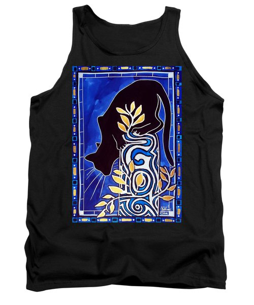 Tank Top featuring the painting G Is For Gato - Cat Art With Letter G By Dora Hathazi Mendes by Dora Hathazi Mendes