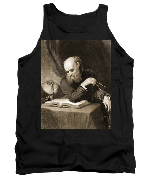 Galileo With Compass And Diagrams Tank Top